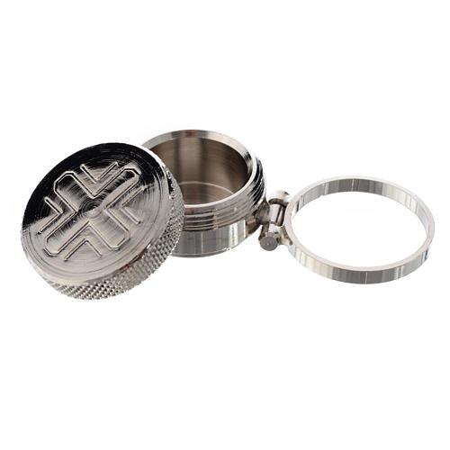 Vasetto mignon per oli sacri con anello 2