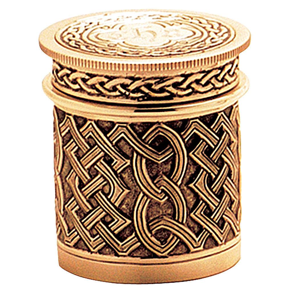 Crismario ottone dorato decorazione filigrana celtica Molina 3