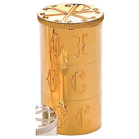 Crismario con anello in ottone dorato simbolo PAX Molina s2