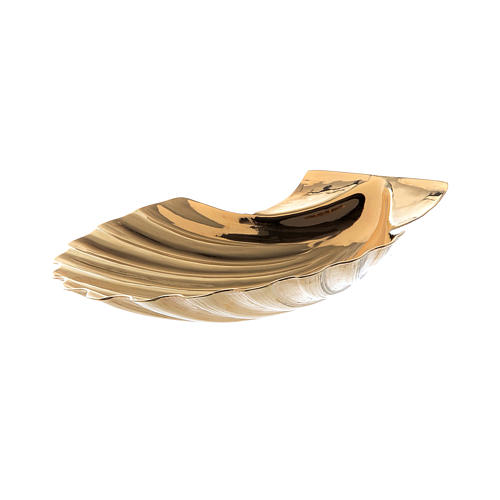 Christening shell in golden brass by Molina 4