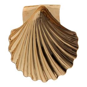 Conchiglia battesimale ottone dorato Molina s1