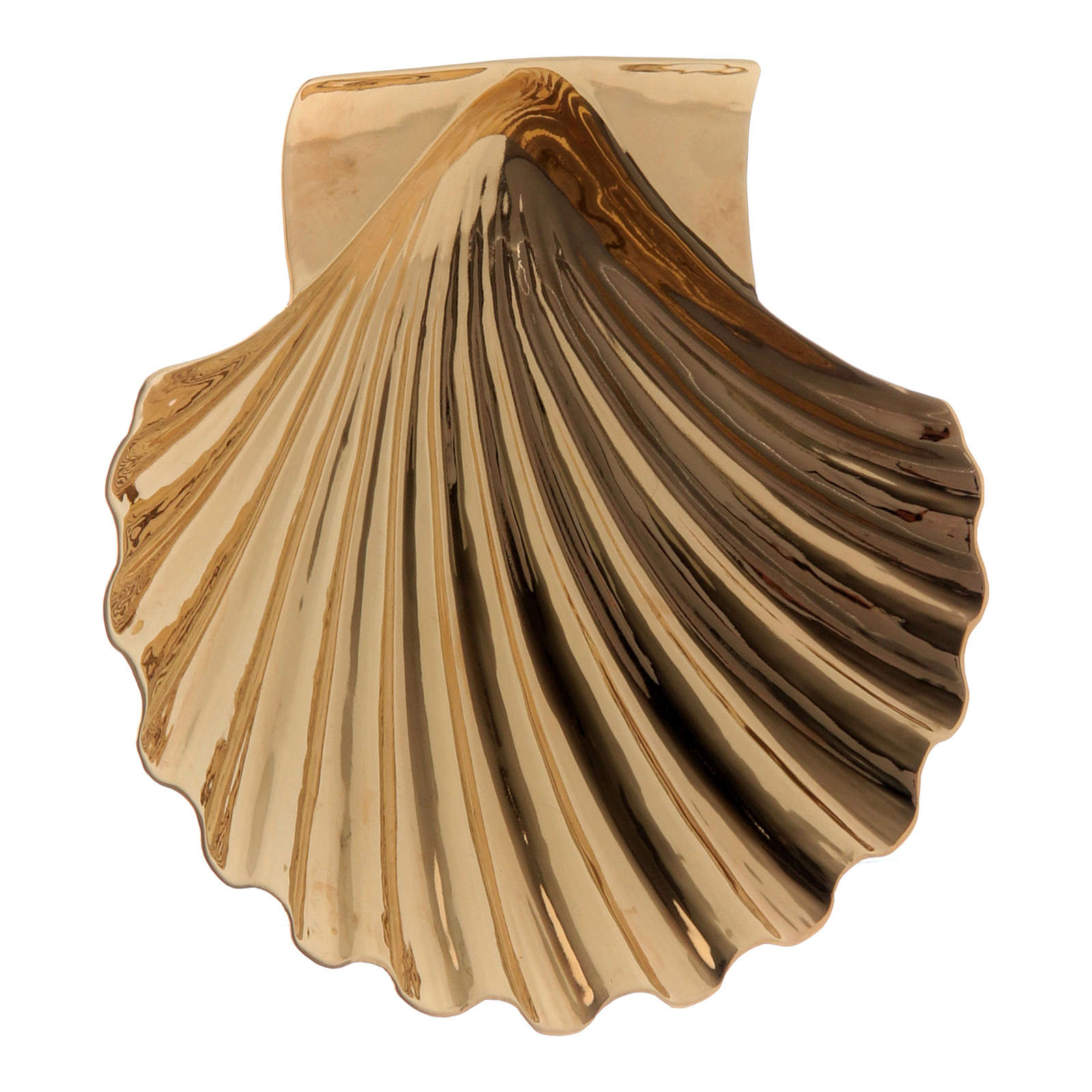 Christening shell in golden brass by Molina 3