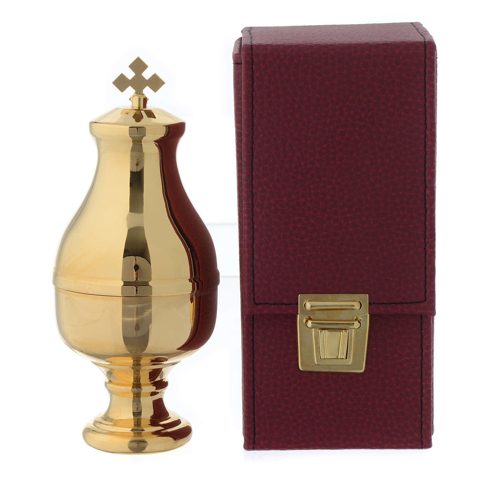Holy oil stock with burgundy case, INF 3