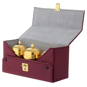 Holy oil stock set with burgundy case and tray s4