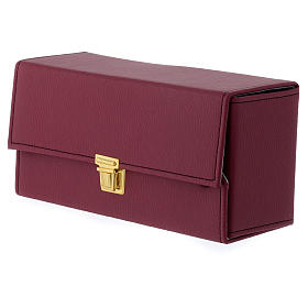 Holy oil stock set with burgundy case and tray s5