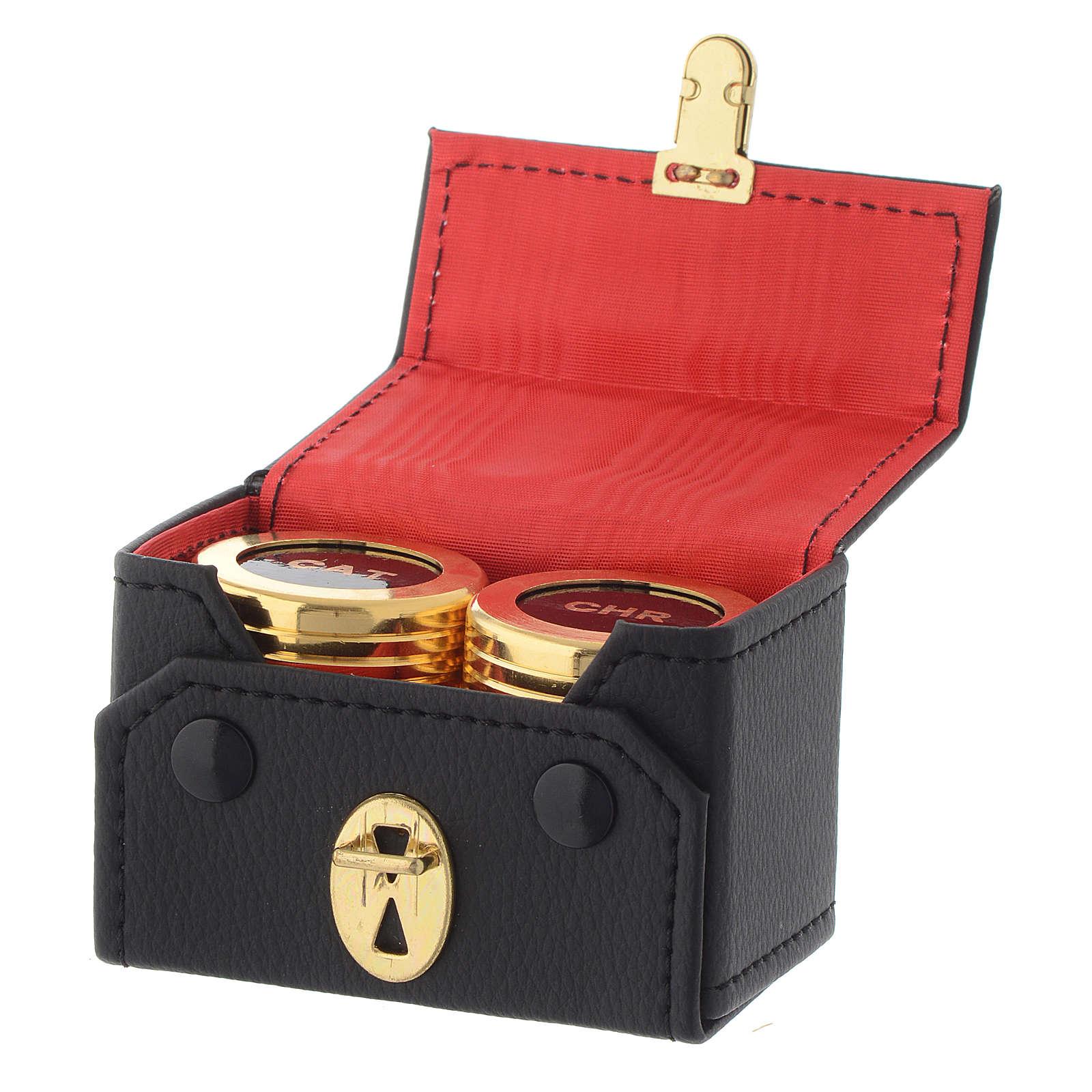 Oli santi: astuccio doppio vasetti dorati CAT CHR 3