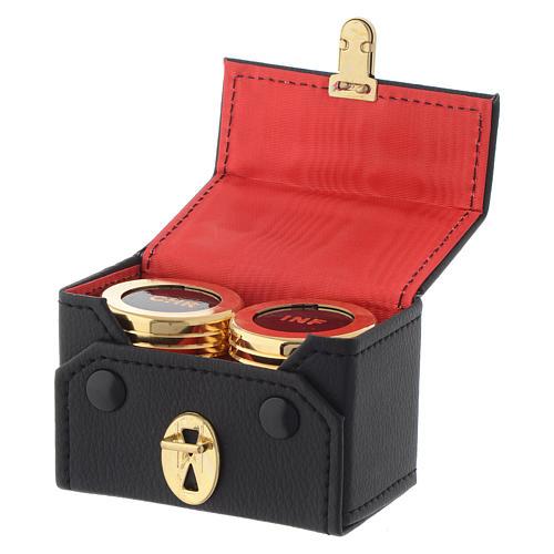 Oli santi: astuccio doppio vasetti dorati CHR INF 3