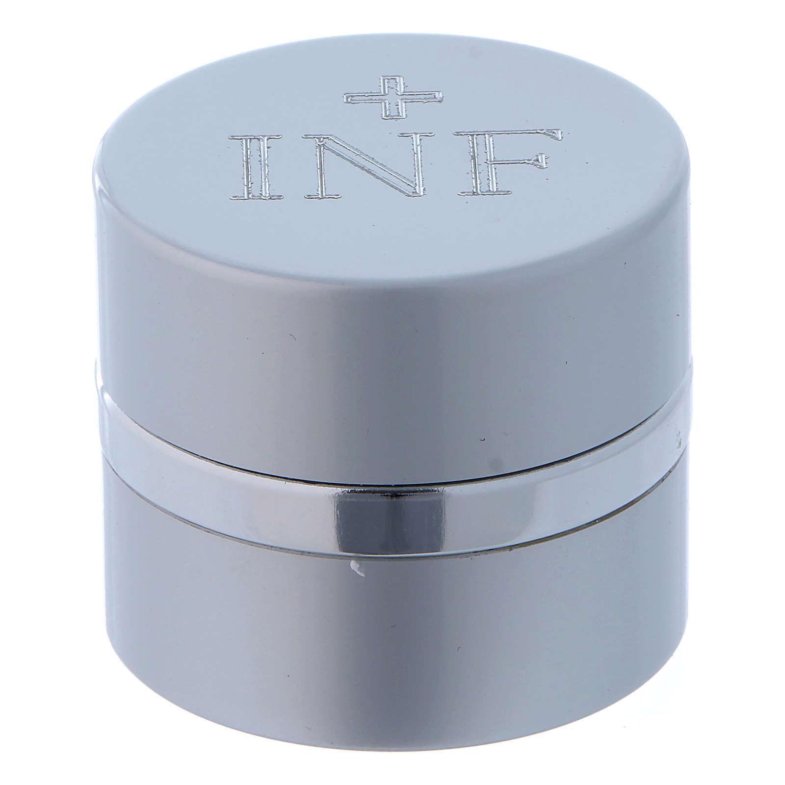 Frasco para Santos Óleos redondo aluminio color plata diámetro 4,3 cm 3