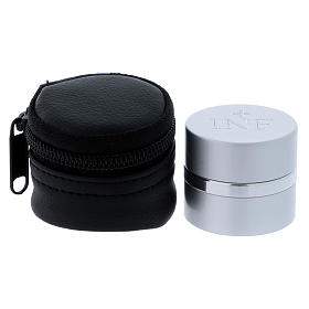 Holy Oils: case in faux leather with aluminium container, silver s1