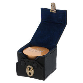 Cubic case with gold plated aluminium Holy oil stock 2 in diameter s3