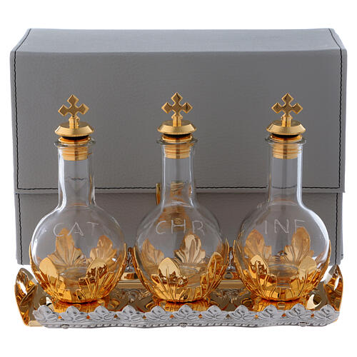 Case with triple Holy oils stock screw cap and tray 1
