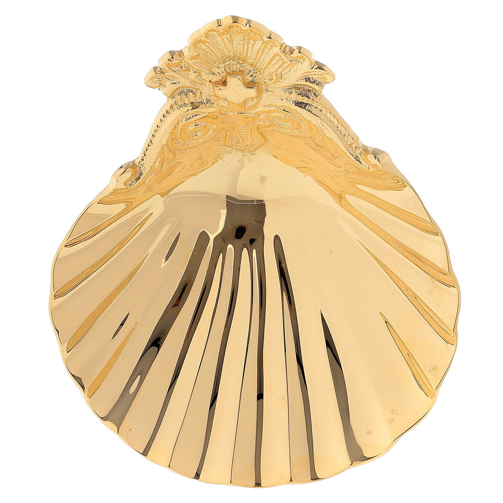 Muschelschale fűr Taufe aus vergoldetem Messing 3