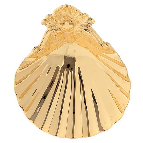Muschelschale fűr Taufe aus vergoldetem Messing 1