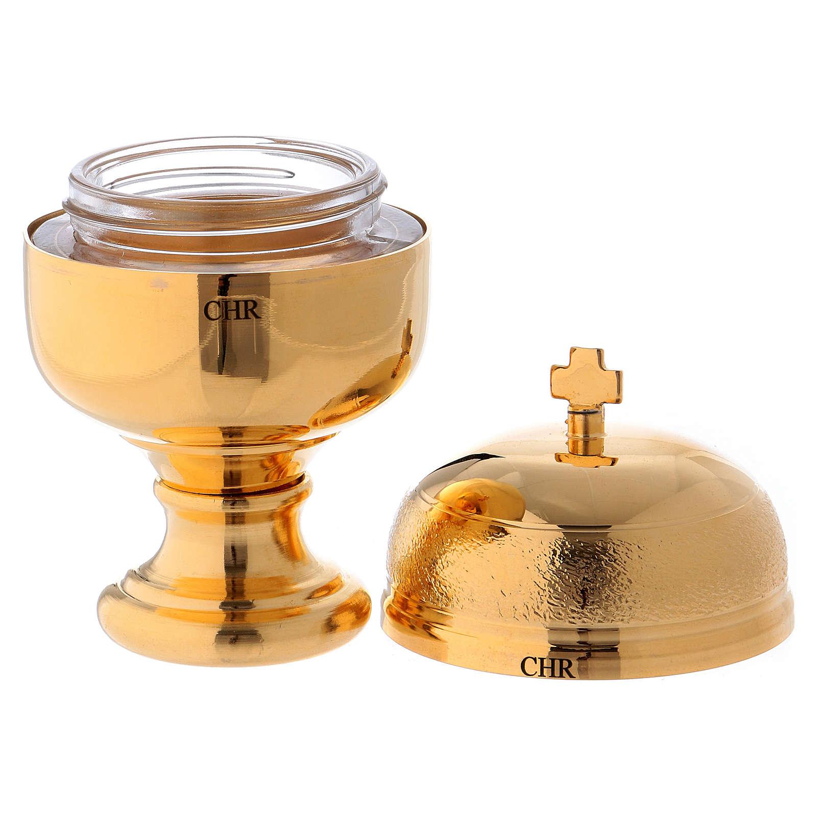 Naczynko na oleje święte model Crismera CHR (krzyżmo) 3