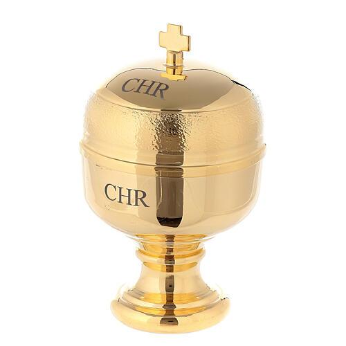 Naczynko na oleje święte model Crismera CHR (krzyżmo) 1