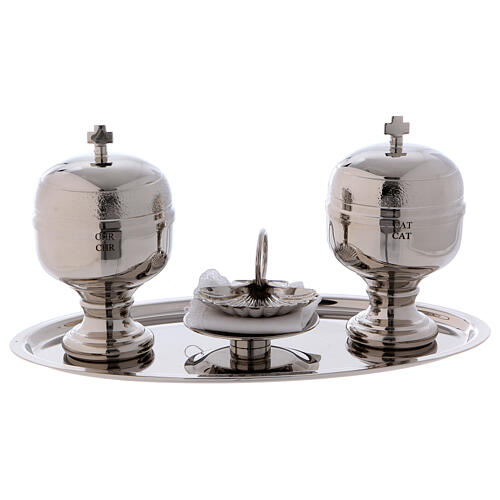 Baptismal set with silver-plated magnetic tray 1