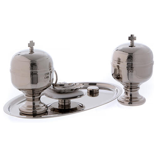 Baptismal set with silver-plated magnetic tray 2