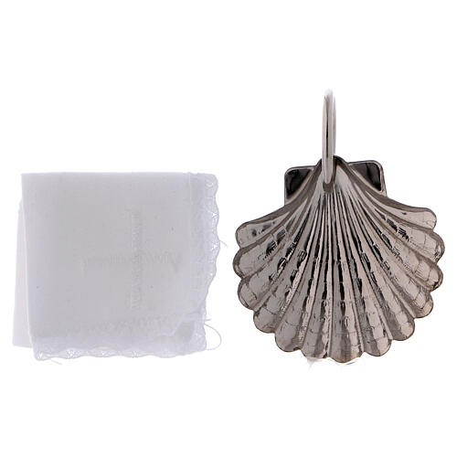 Baptismal set with silver-plated magnetic tray 4
