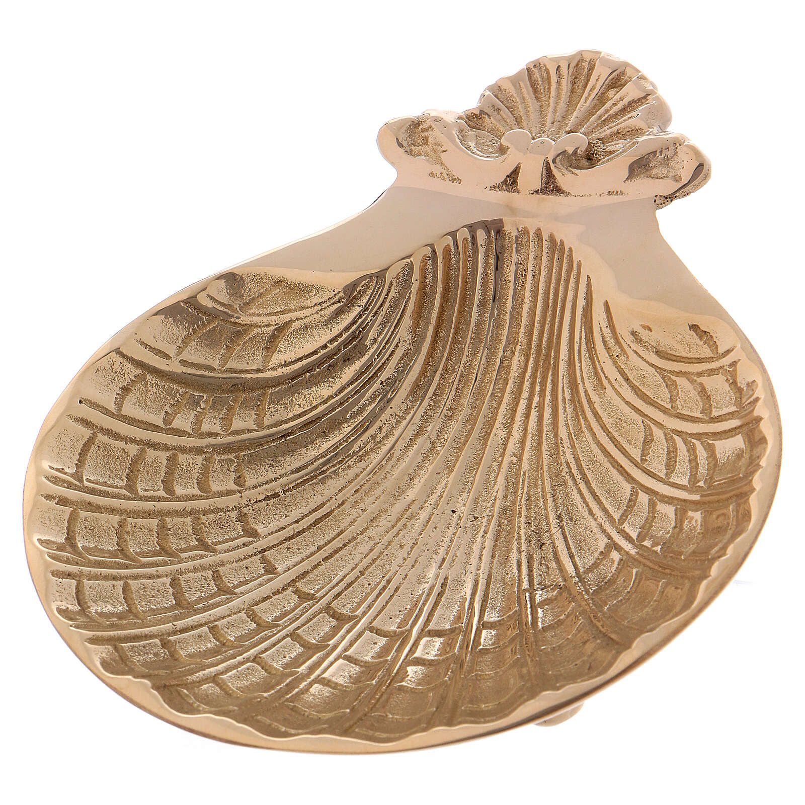 Baptismal shell with three small feet at the base 13x11 cm 3