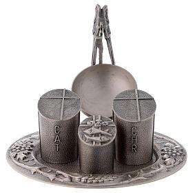 Set baptismal argenté laiton moulé s1