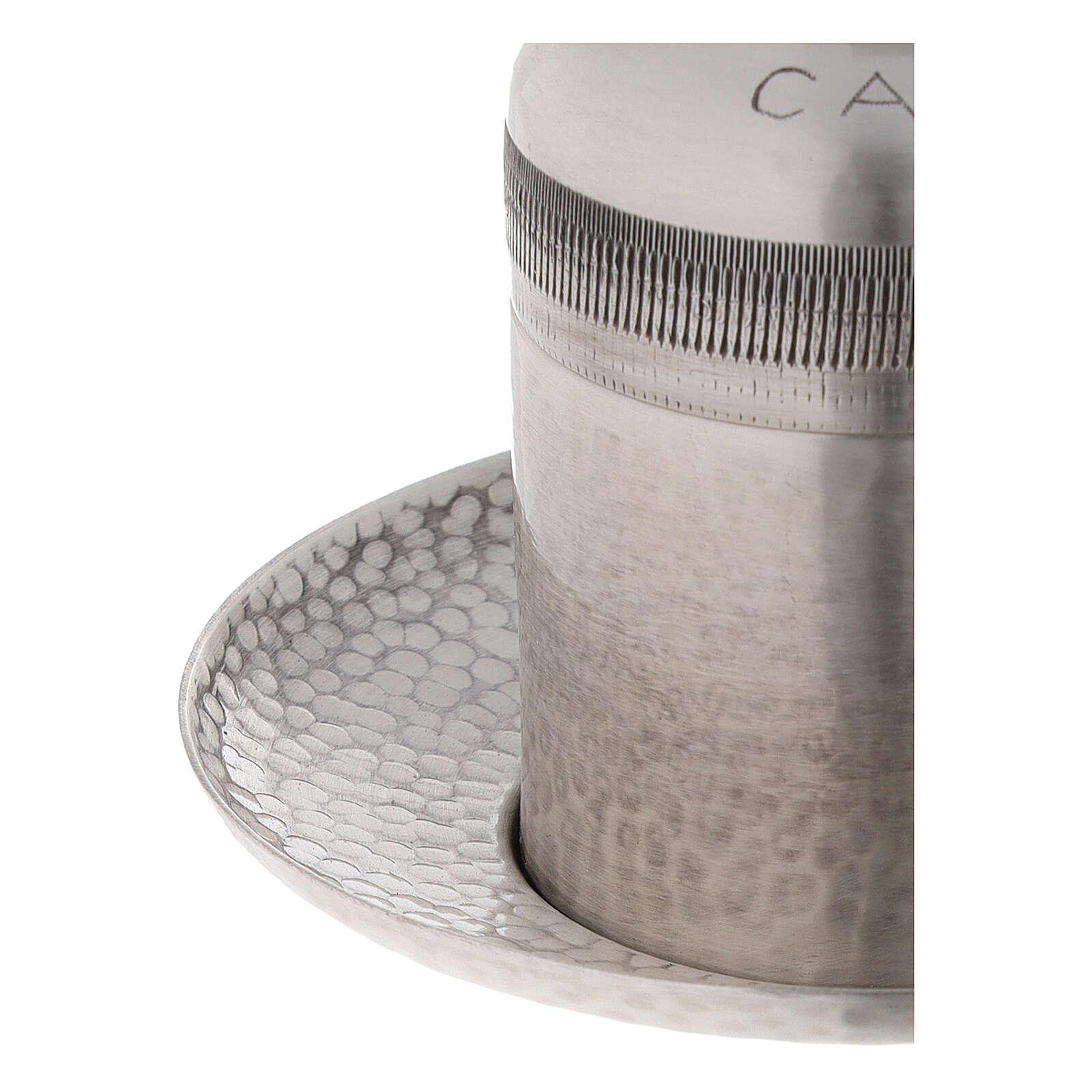 Vasija óleo catecúmenos latón plateado 50 ml 3