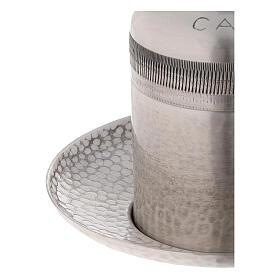Vase huiles catéchumènes laiton argenté 50 ml s3
