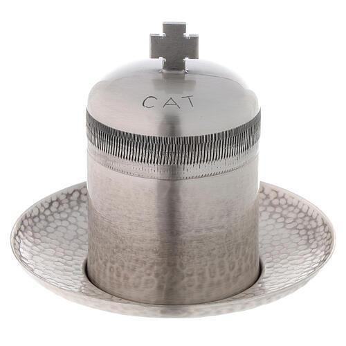 Vaso óleo dos Catecúmenos latão prateado 50 ml 1
