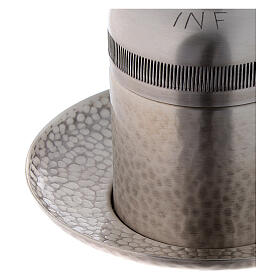 Vasetto ottone argentato olio infermi 50 ml s4