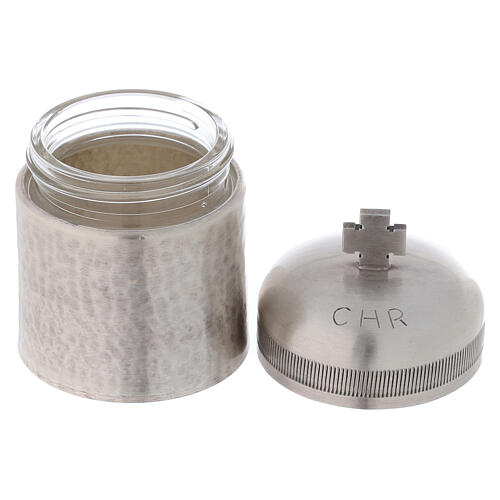 Conjunto dois vasos óleos santos latão prateado 50 ml 4