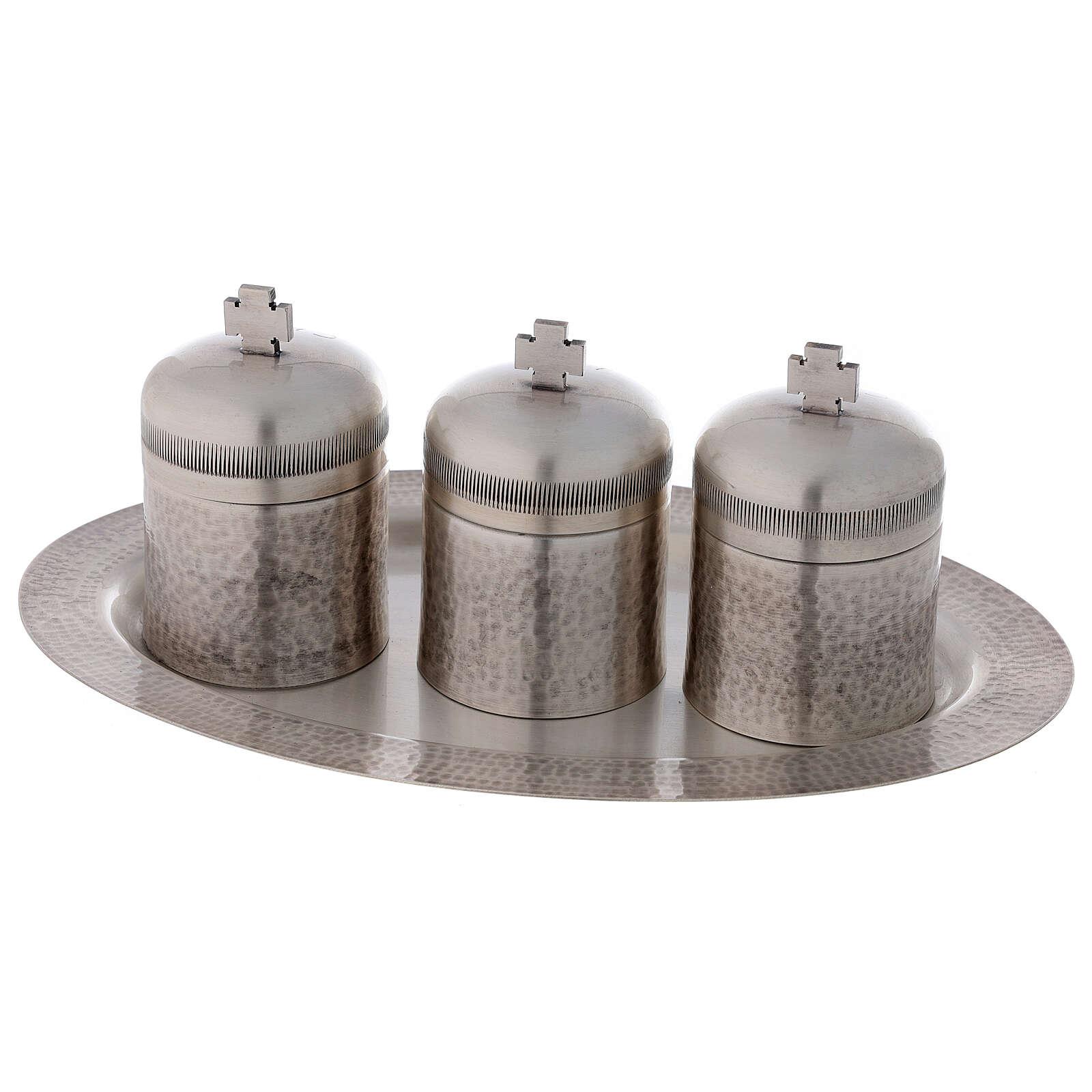 Set tríada óleos santos latón plateado 50 ml 3