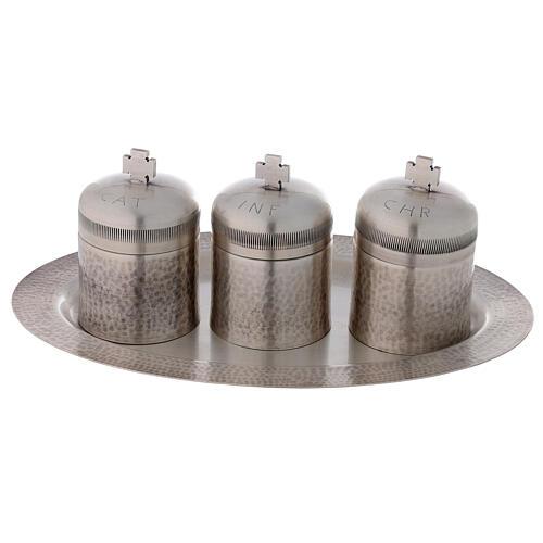Set tríada óleos santos latón plateado 50 ml 1