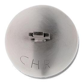 Sacred oil jar silvered brass Crisma 5 cc s3