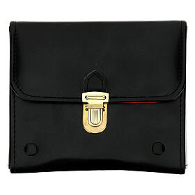 Holy oil case in black leather with three oil stocks of 125 ml s1