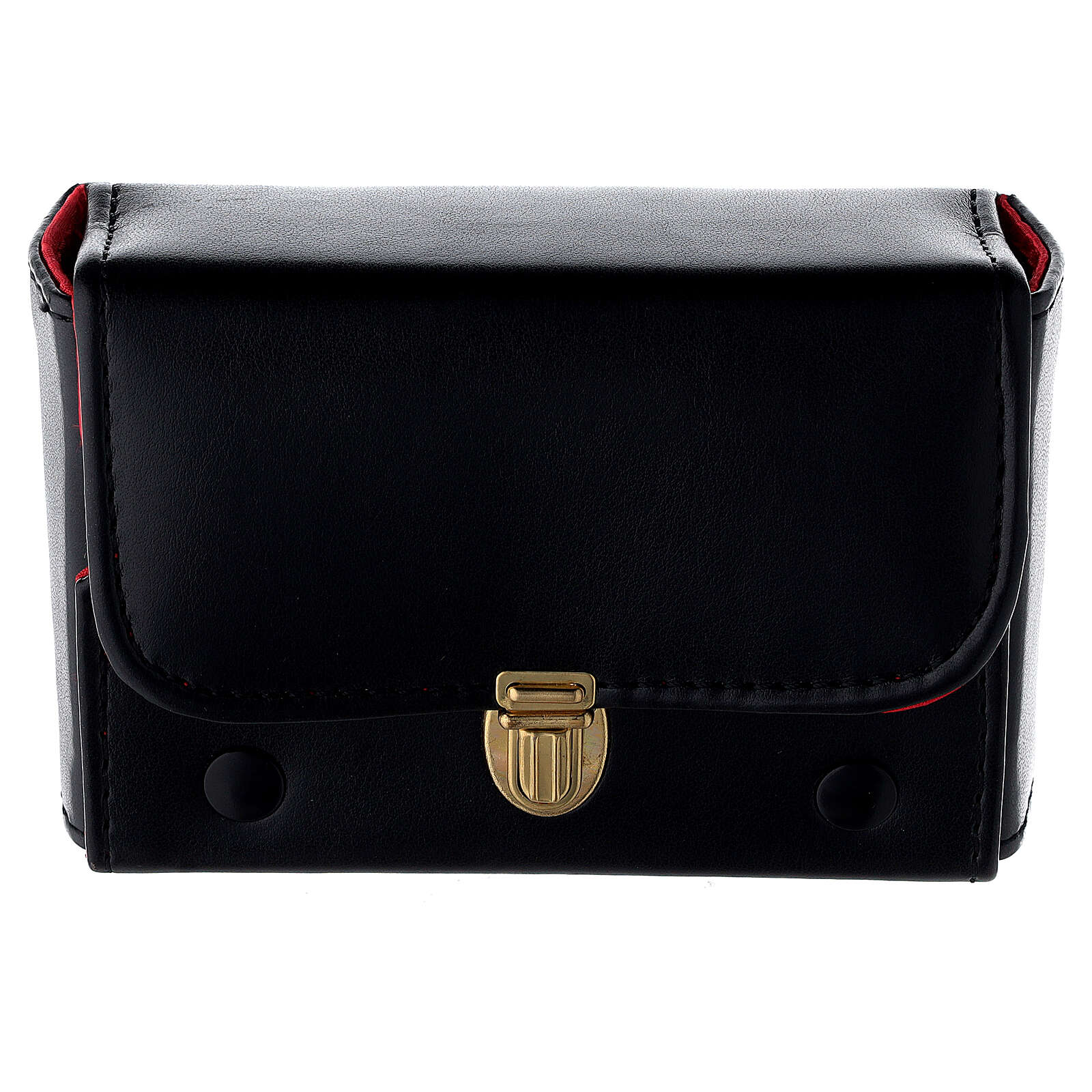 Hard case in black eco-leather with three Holy oil stocks of 125 ml 3