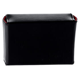 Hard case in black eco-leather with three Holy oil stocks of 125 ml s4