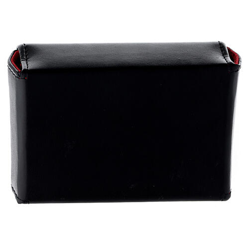 Hard case in black eco-leather with three Holy oil stocks of 125 ml 4