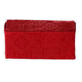 Case in red Jacquard fabric with three stocks of 15 ml s6