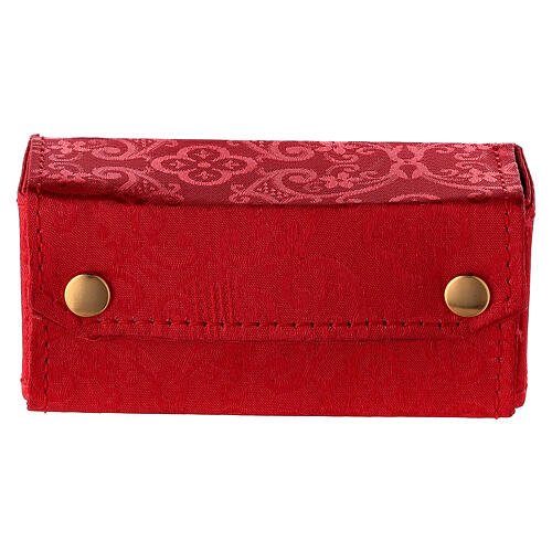Case in red Jacquard fabric with three stocks of 15 ml 1