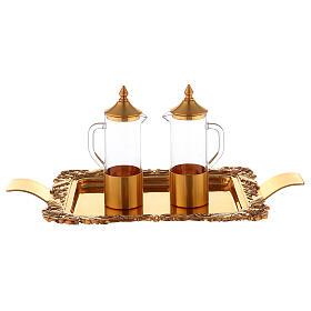Servicio vinajeras latón dorado realizado a mano s3