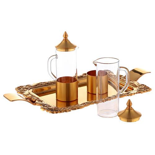 Servicio vinajeras latón dorado realizado a mano 2