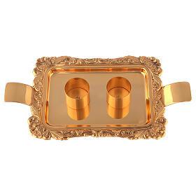 Servizio ampolline ottone dorato realizzato a mano s4