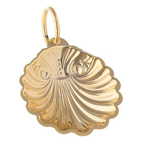 Baptismal shell with 24-karat gold plated finish s2