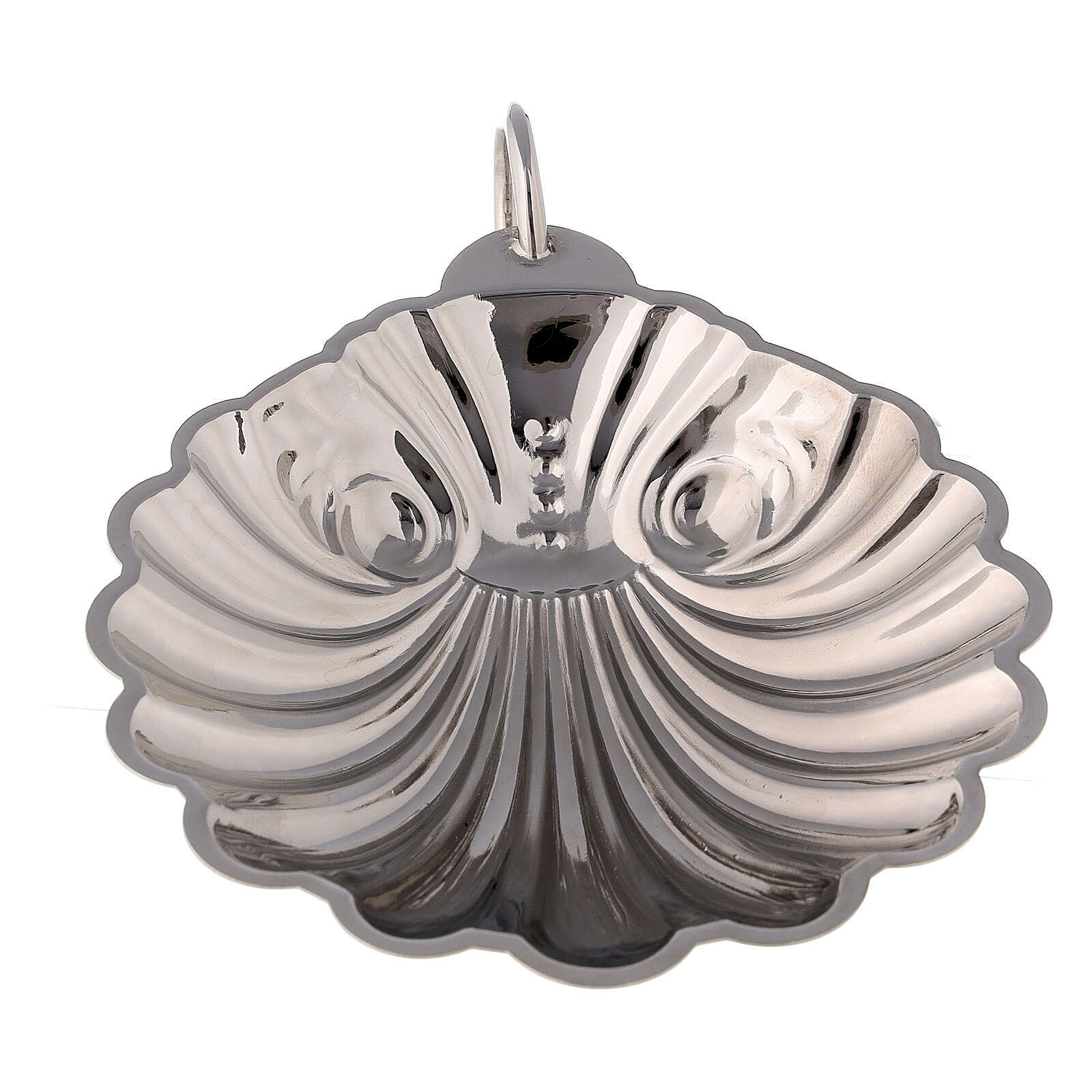 Conchiglia battesimale ottone argentato con manico 3