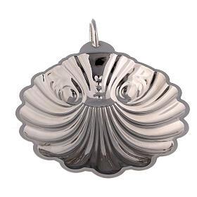 Conchiglia battesimale ottone argentato con manico s2
