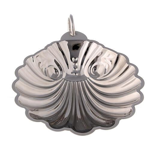 Conchiglia battesimale ottone argentato con manico 2