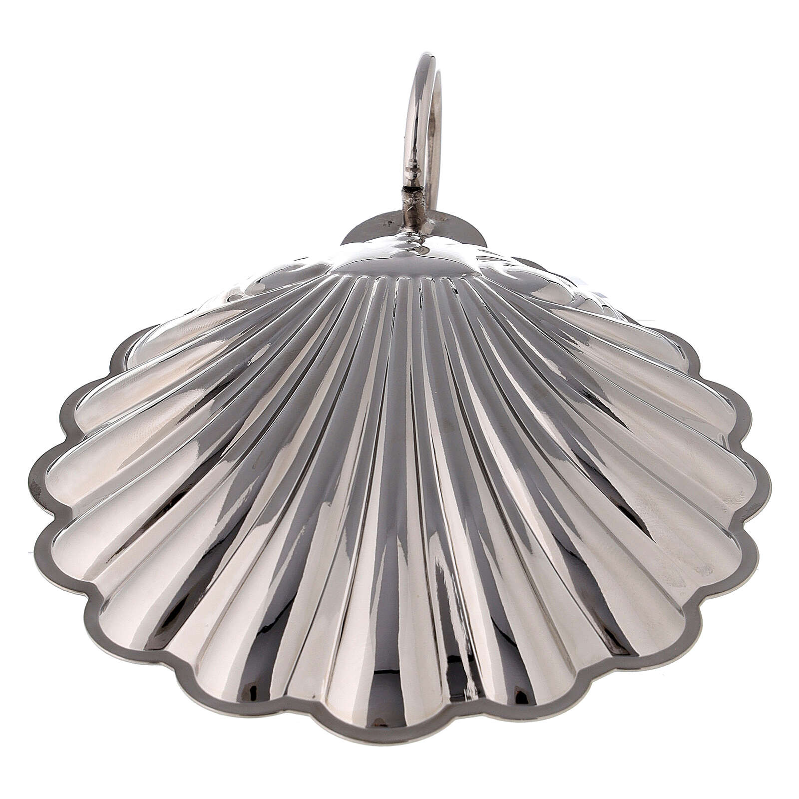 Baptismal shell silver-plated brass with handle 3