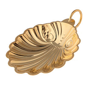 Gold-plated baptismal shell with handle s1