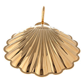 Gold-plated baptismal shell with handle s3