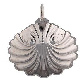 Concha bautismal latón plateado 9 cm s2