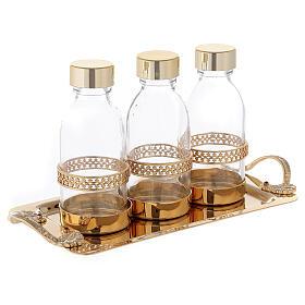 Holy oil set 24-karat gold plated brass s3